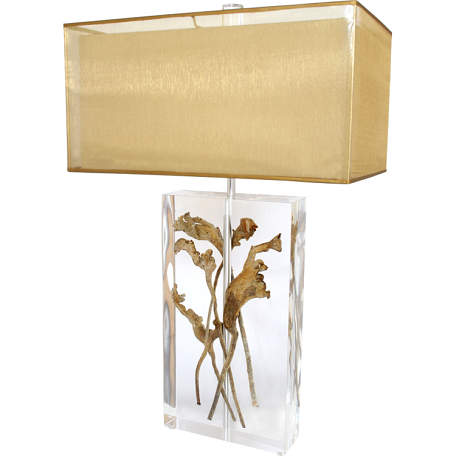 "Table Lamp Collection 2-Light 32"" Table Lamp ""Acrylic"" 782672"
