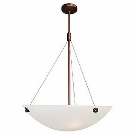 Access Four Light Whitet  Glass Bronze  Up Pendant