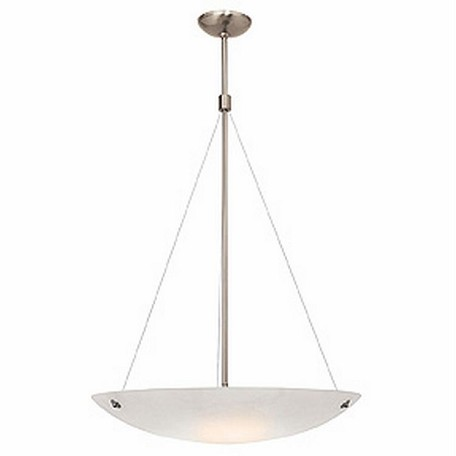 Access Five Light Whitet  Glass Brushed Steel  Up Pendant