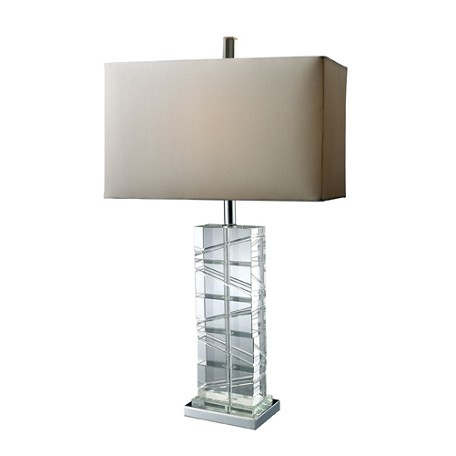 Dimond One Light Chrome And Crystal Table Lamp