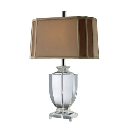 Dimond One Light Clear Crystal Table Lamp
