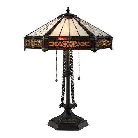 Dimond Two Light Tiffany Bronze Table Lamp