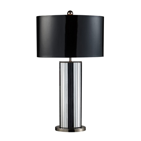 Dimond One Light Mirrored And Black Nickel Table Lamp
