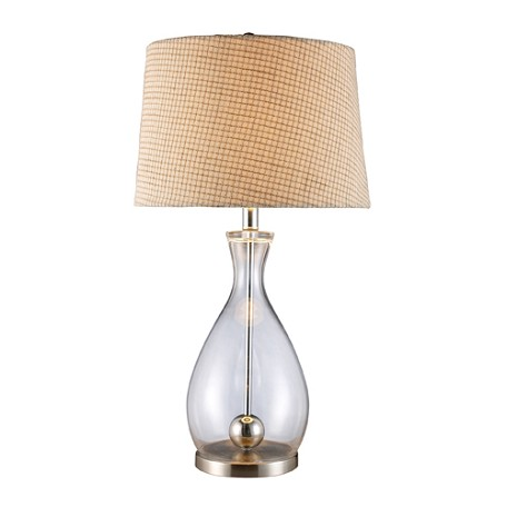 Dimond One Light Clear Glass And Chrome Table Lamp