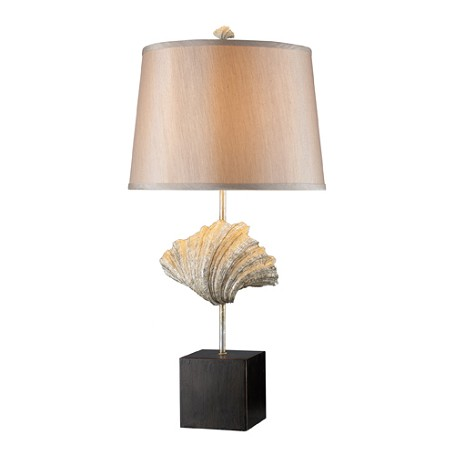 Dimond One Light Oyster Shell And Dark Bronze Table Lamp