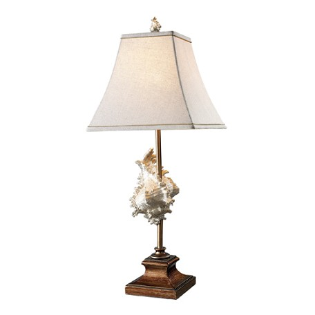 Dimond One Light Conch Shell And Bronze Table Lamp