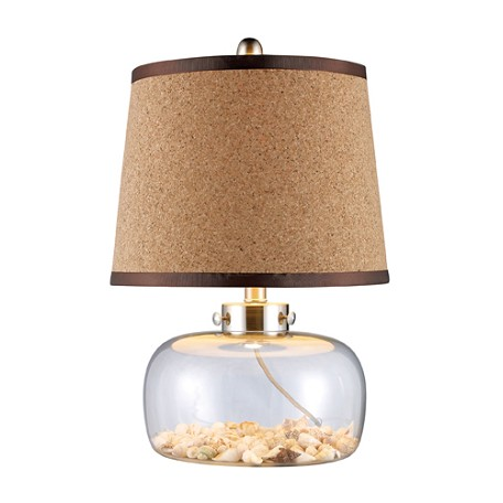 Dimond One Light Clear Glass And Shells Table Lamp