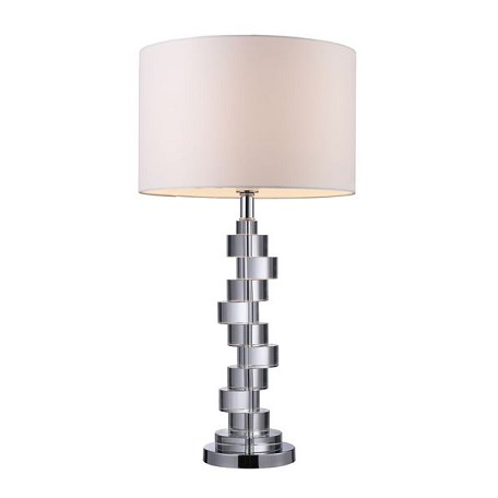 Dimond One Light Clear Crystal And Chrome Table Lamp