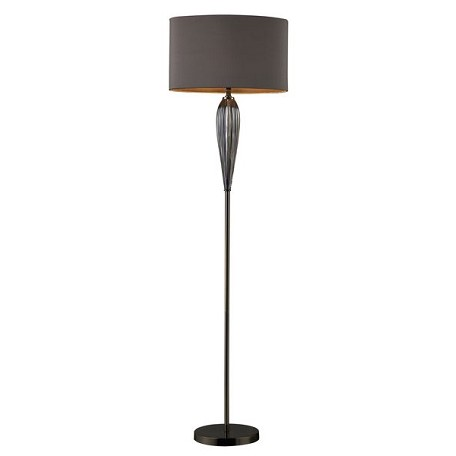 Dimond One Light Steel Smoked And Black Nickel Floor Lamp