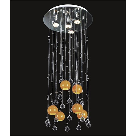 Drops Of Rain Design Light Pendant Chandelier With European - Orange chandelier crystals