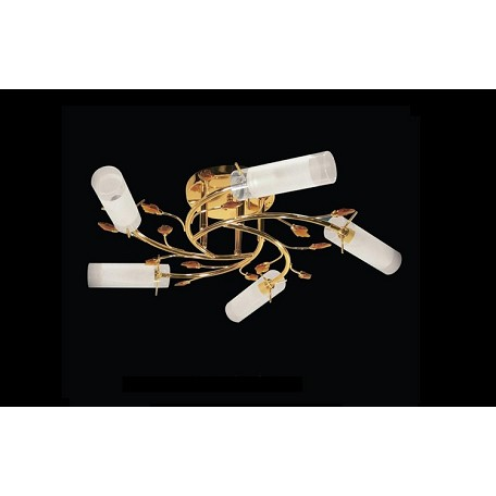"Crystal Forest Design 5-Light 25"" Chrome or Gold Crystal Ceiling Mount Fixture with Pink or Amber Crystals SKU* 10943"
