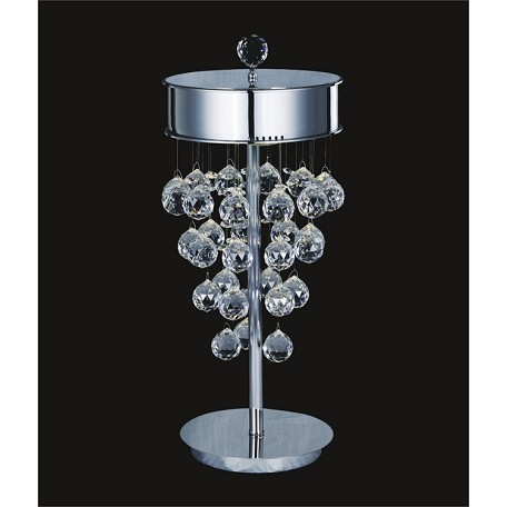 "Drops of Rain Design 3-Light 9"" Table Lamp with European or Swarovski Crystals SKU# 75845"