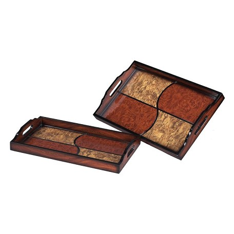 Sterling Industries Set Of 2 Quartered Trays