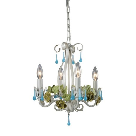 Sterling Industries Four Light White Up Chandelier