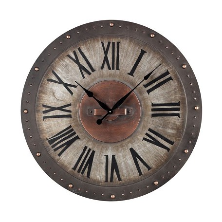 Sterling Industries Metal Roman Numeral Outdoor Wall Clock.