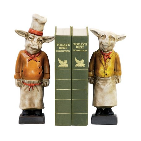 Sterling Industries Pair Chef Pig Bookends