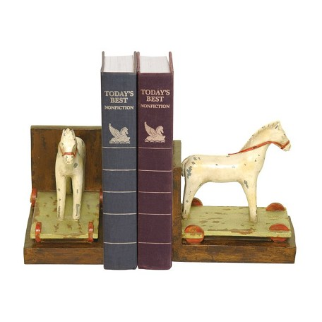 Sterling Industries Pair Childs Pony Bookends