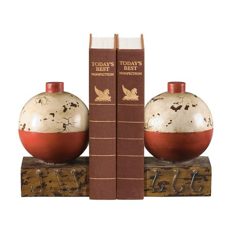 Sterling Industries Pair Of Fishing Bobber Bookends