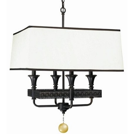 World Imports Four Light Bronze Up Chandelier