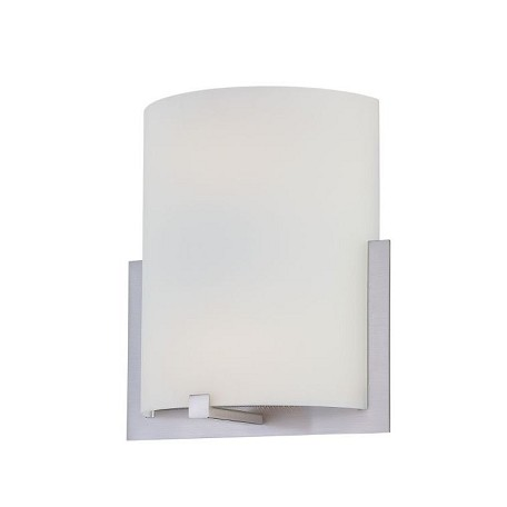 Lite Source Inc. Wall Sconce Ps/Frost Glass Type Fluor. Gu24 Cfl 13Wx2