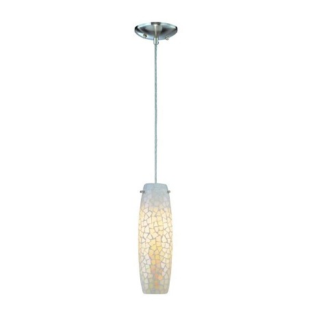 Lite Source Inc. Pendant Lamp Ps W/Light White Mosaic Shade E27 Type B 60W