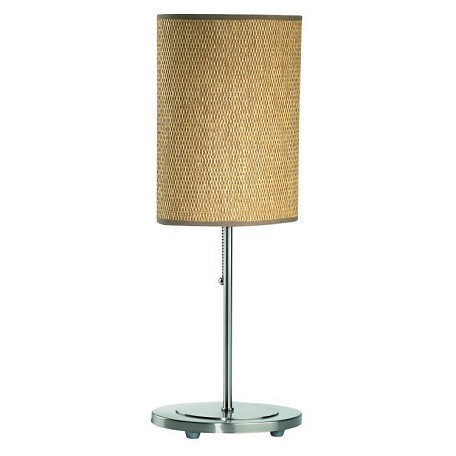 Lite Source Inc. Table Lamp Ps W/Rattan Shade E27 Cfl 13W