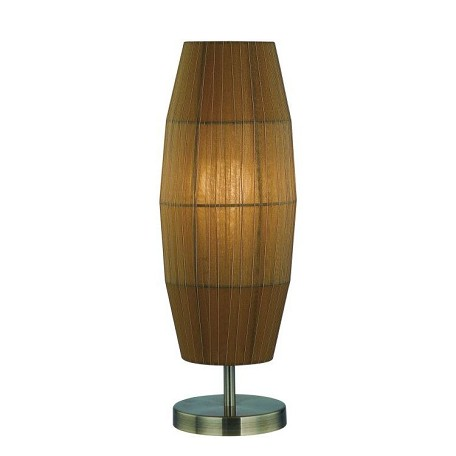 Lite Source Inc. Table Lamp Ab/Amber Organza Shade E27 Type Cfl 13W