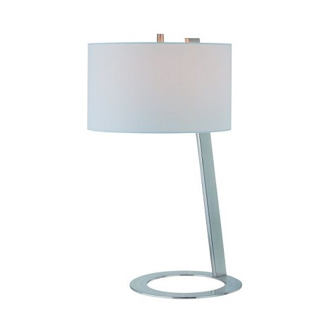 Lite Source Inc. Table Lamp Ps W/White Fabric Shade E27 Cfl 13W