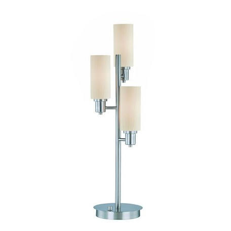 Lite Source Inc. 3-Lite Table Lamp Ps/Frost Glass Shade E12 Type B 40Wx3