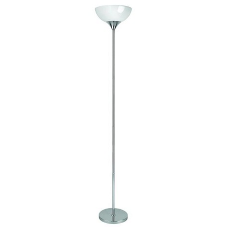 Lite Source Inc. Torchiere Lamp Chrome/White Acrylic Shade E27 Cfl 23W