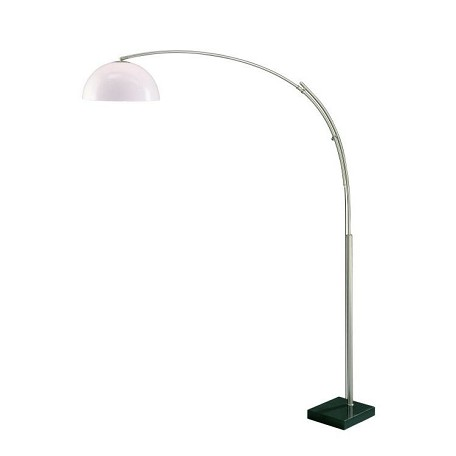 Lite Source Inc. Arch Lamp Ps/Marble Base/White Acrylic Shade E27 Cfl 23W