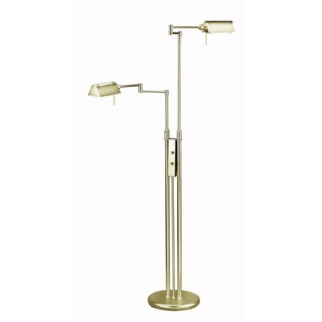 Lite Source Inc. Antique Brass Floor Lamp From The Pharma Collection